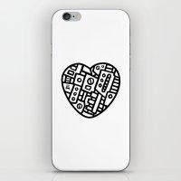 Iron Heart (B&W Edition)… iPhone & iPod Skin