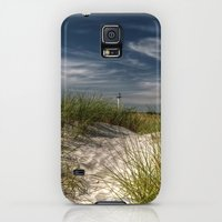 Galaxy S5 Cases featuring Light Tower and Dunes by UtArt