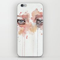 Missing you, watercolor eye study iPhone & iPod Skin