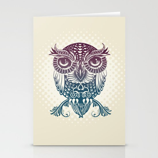 Baby Egyptian Owl Stationery Card