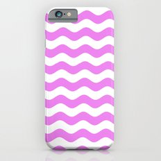 Wavy Stripes (Violet/White) iPhone 6 Slim Case