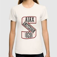 AJAX AMSTERDAM 020 Womens Fitted Tee Natural SMALL