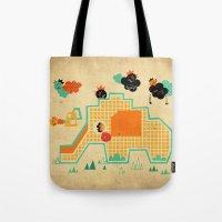 Elephant Playground Tote Bag