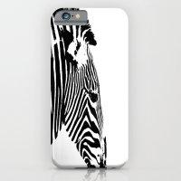 iPhone & iPod Case featuring Zebra Portrait by Jake Stanton
