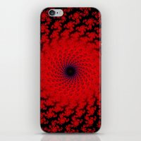 Red Space Spiral Fractal  iPhone & iPod Skin