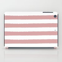 Mauve and white stripes - classy college student collection iPad Case