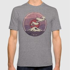 Fuji Mens Fitted Tee Tri-Grey SMALL