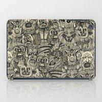 gargoyles vintage black iPad Case