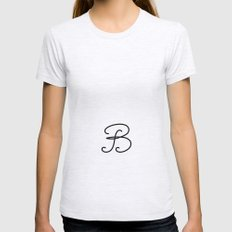 Letter  B Womens Fitted Tee Ash Grey SMALL