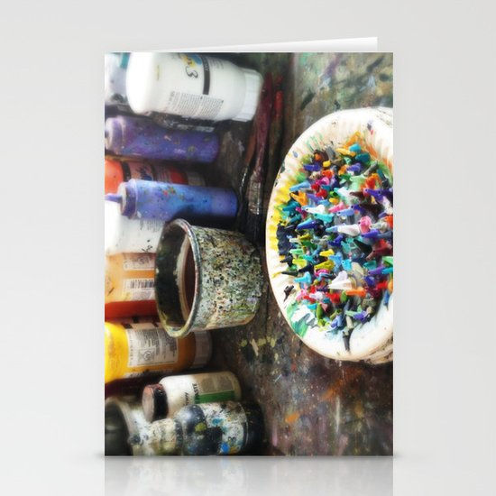 Plate of Colour Stationery Card