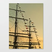 Ship flags at the Tall Ships Race Waterford 2011 Canvas Print
