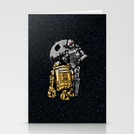 Stationery Cards featuring Daft Droids by Jonah Block