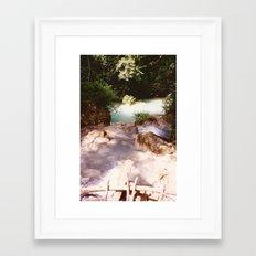 Kanchanburi TH - Erawon Waterfalls  Framed Art Print