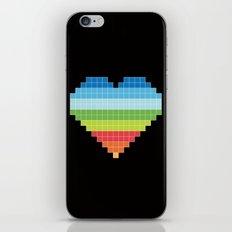 Pixelated Heart. iPhone & iPod Skin