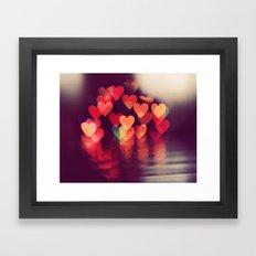 Love LIGHTS Framed Art Print