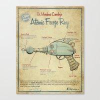 Atomic Freeze Ray Canvas Print