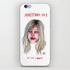 MURDERED OUT - KIM GORDON FAN ART iPhone & iPod Skin