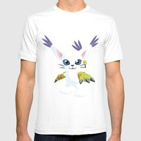 DIGIMON - Gatomon Mens Fitted Tee White SMALL