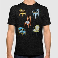 Chairs Number 3 Mens Fitted Tee Tri-Black SMALL
