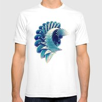 Space Abstract  Mens Fitted Tee White SMALL