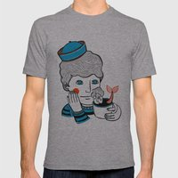 Sailor At Tea Mens Fitted Tee Athletic Grey SMALL
