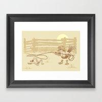 Cowbird Framed Art Print