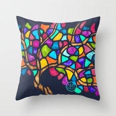 Mosaic tree Throw Pillow