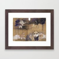 son bahar Framed Art Print