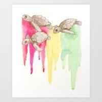Turtle Mon! Art Print