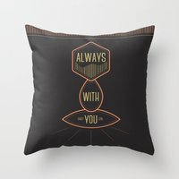 Always With You Baby Gir… Throw Pillow