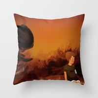 Forgotten sunrise Throw Pillow