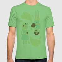 English Summer Cup Of Te… Mens Fitted Tee Grass SMALL