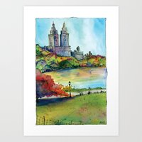 The San Remo In Autumn, … Art Print