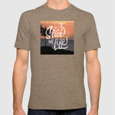 Slice of Life Mens Fitted Tee Tri-Coffee SMALL