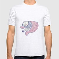 lazy saturdays Mens Fitted Tee Ash Grey SMALL
