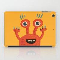 Funny Orange Happy Creature iPad Case