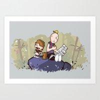 Chunk and Sloth Art Print