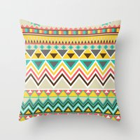 Aztec 7 Throw Pillow