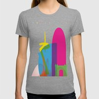Shapes Of Barcelona. Acc… Womens Fitted Tee Tri-Grey SMALL