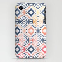 iPhone 3Gs & iPhone 3G Cases featuring Tropical Ikat Damask by micklyn