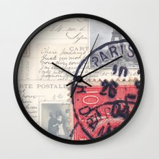 Postale Paris Wall Clock