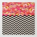 Chevron Flora Canvas Print