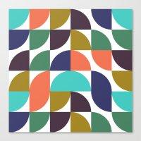 Mod Geo Pattern Canvas Print