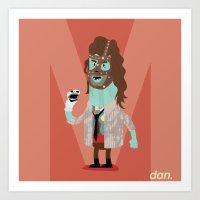Alphabet Wrestlers - Mankind Art Print