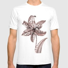 Henna Lily Mens Fitted Tee White SMALL