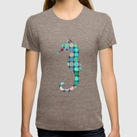 SEAHORSE Womens Fitted Tee Tri-Coffee SMALL