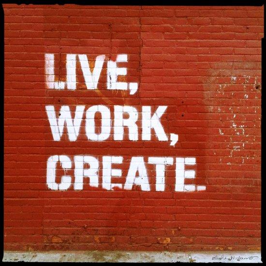 Live. Work. Create. Canvas Print