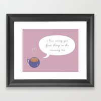 A Love Affair (With Tea) Framed Art Print
