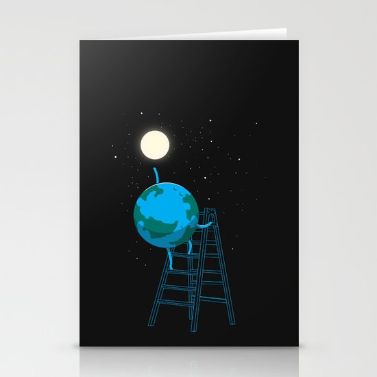 Reach the moon Stationery Card