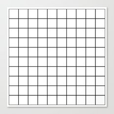 White Grid Canvas Print